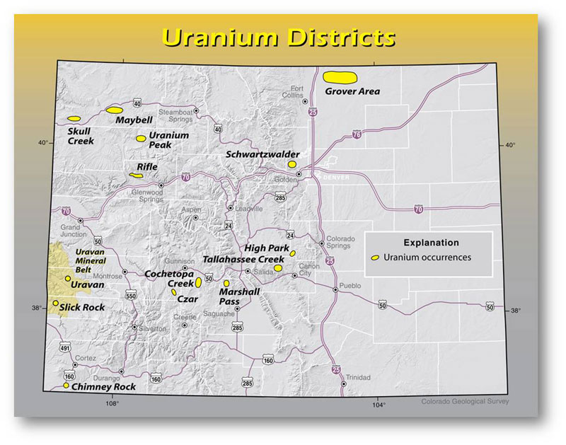 Uranium In America Uranium Producers Of America - Were is the us's nuclear uranium mined map
